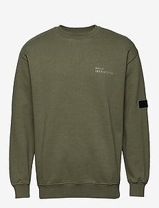 HALO Cotton Crew Sweat - basic sweatshirts - olivine