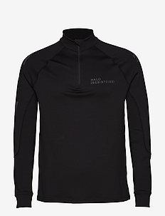 HALO Tech Zip Shirt - langermede t-skjorter - black