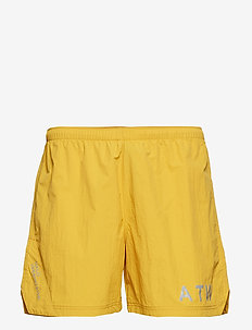 Halo Nylon Shorts - MUSTARD