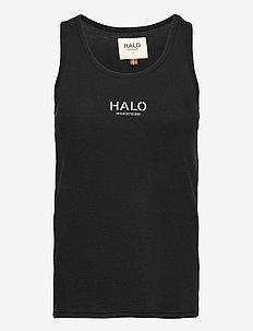 HALO WOMENS WAFFLE TANK - tops zonder mouwen - black