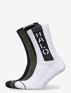HALO Logo Socks 3-pack - tavalliset sukat - black/optic white/dark army