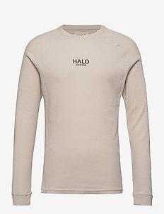 HALO Waffle Longsleeve - basis-t-skjorter - winter white