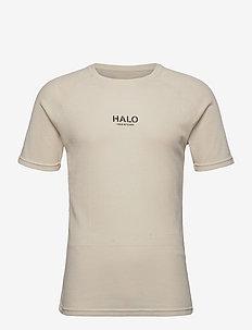 HALO Waffle Tee - t-shirts - bone white