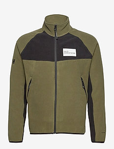HALO ATW Zip Fleece - basic-sweatshirts - olive night