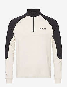 HALO ATW Halfzip - langermede t-skjorter - bone white