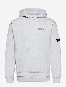 HALO COTTON HOODIE - sweatshirts et sweats à capuche - lt grey melange