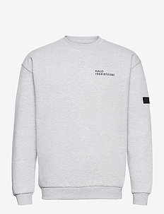 HALO Cotton Crew - basic sweatshirts - lt grey melange