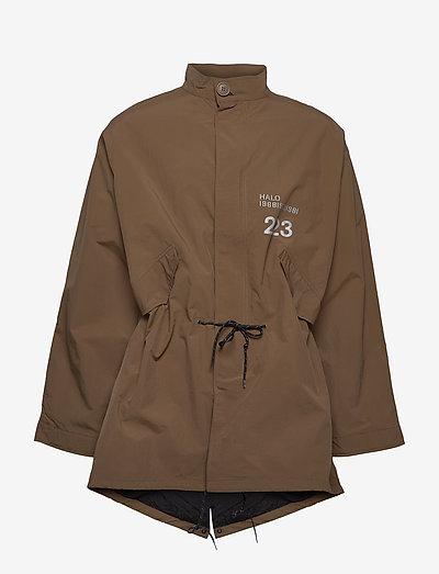 HALO Military Nylon Parka - parkacoats - brown