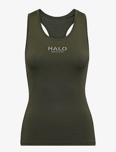 HALO WOMENS RACERBACK TANK - sleeveless tops - winter moss
