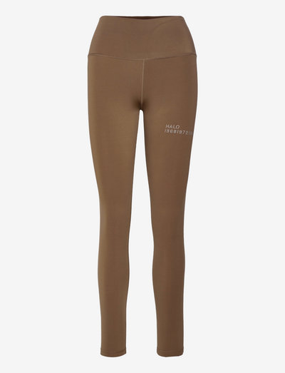HALO WOMENS HIGHRISE TIGHTS - tights & shorts - vintage brown