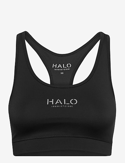 HALO WOMENS BRATOP - urheiluliivit: korkea tuki - black