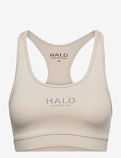 HALO WOMENS BRATOP - sort bras:high - pumice stone