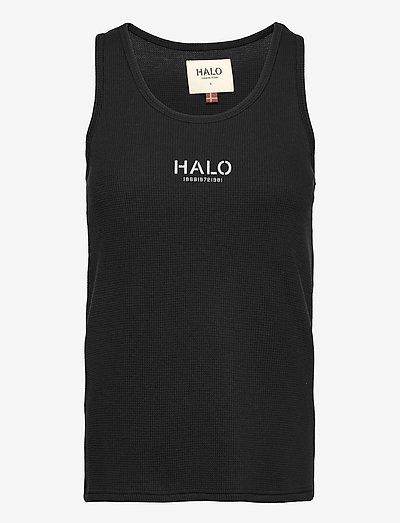 HALO WOMENS WAFFLE TANK - Ärmellose tops - black