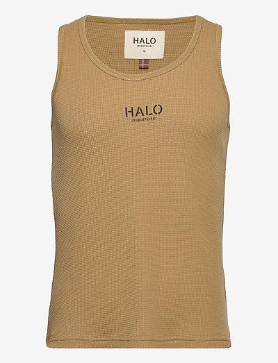 HALO WOMENS WAFFLE TANK - sleeveless tops - kelp