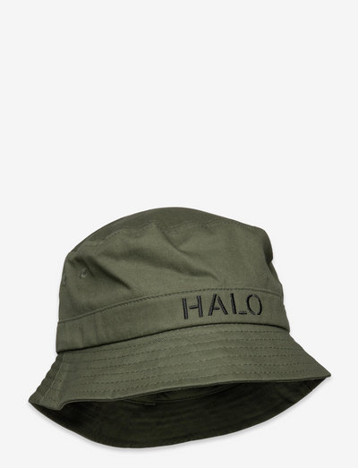HALO Bucket Hat - bucket hats - dark army/yellow