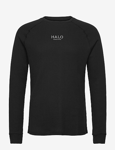 HALO WAFFLE LONGSLEEVE - langärmelig - black