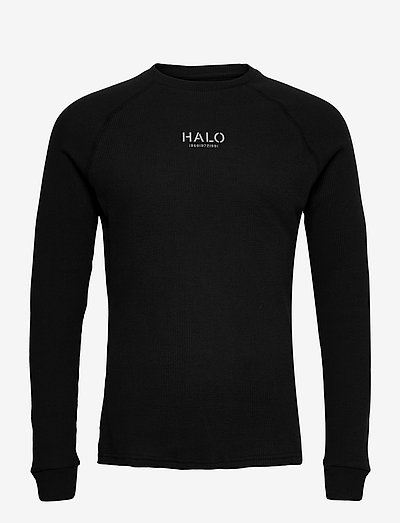 HALO WAFFLE LONGSLEEVE - t-shirts à manches longues - black
