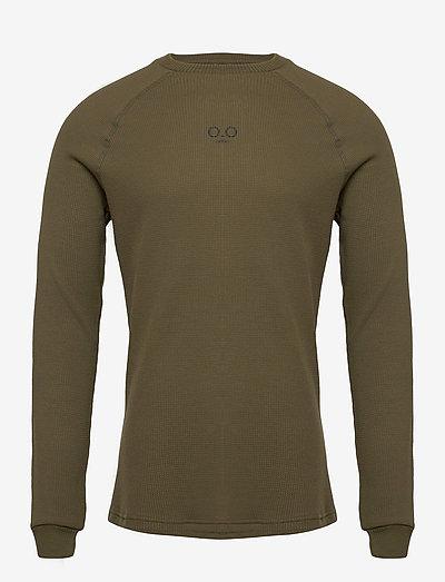 HALO WAFFLE LONGSLEEVE - t-shirts à manches longues - olive night