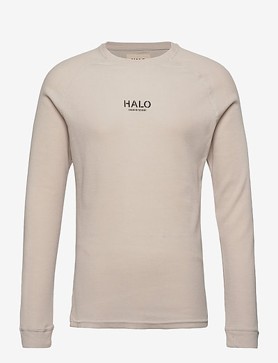 HALO WAFFLE LONGSLEEVE - langärmelig - winter white