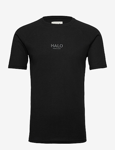 HALO WAFFLE TEE - t-shirts à manches courtes - black