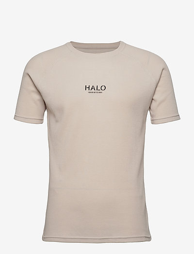 HALO WAFFLE TEE - kurzärmelig - winter white