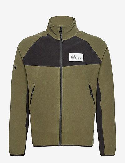 HALO ATW Zip Fleece - basic-sweatshirts - olive night