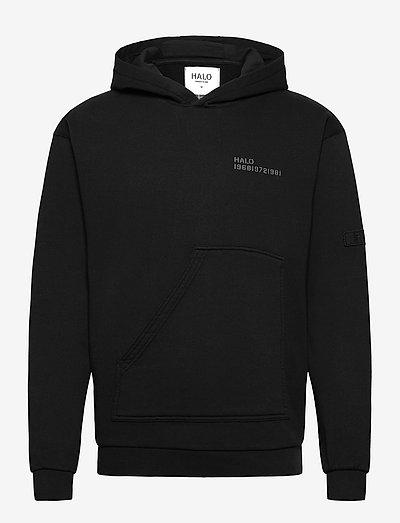 HALO COTTON HOODIE - sweatshirts & hoodies - black