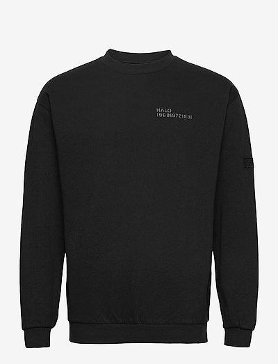 HALO COTTON CREW - basic-sweatshirts - black