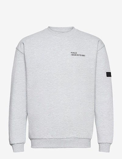 HALO COTTON CREW - basic-sweatshirts - lt grey melange