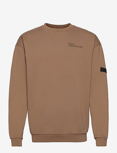 HALO COTTON CREW - sweatshirts & hoodies - vintage brown