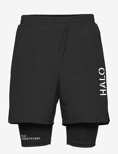 HALO 2-LAYER SHORT - training korte broek - black