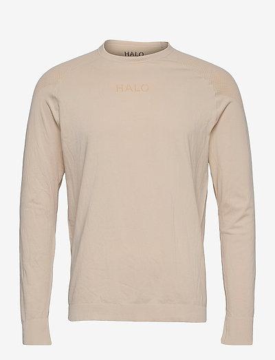 HALO Seamless Longsleeve - t-shirts à manches longues - bone white
