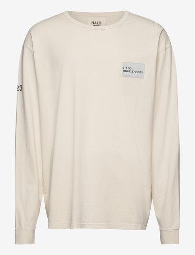 HALO HEAVY COTTON LONGSLEEVE - t-shirts à manches longues - bone white