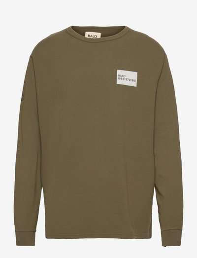 HALO HEAVY COTTON LONGSLEEVE - t-shirts à manches longues - winter moss