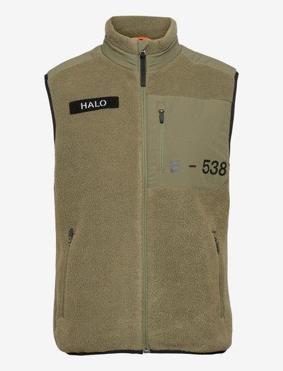 HALO FLEECE VEST - vestes en tissu peluche - winter moss