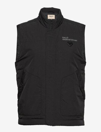 HALO PADDED GILET - vestes et manteaux - black