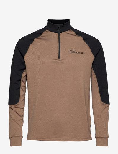 HALO ATW HALFZIP - sweats - vintage brown