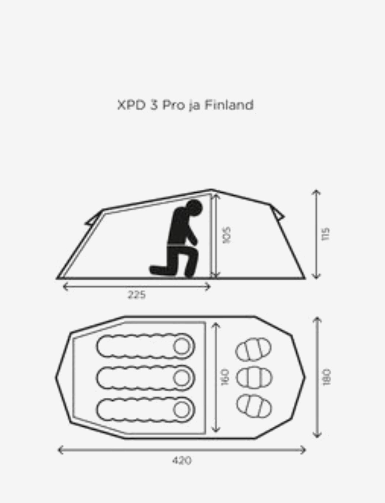Halti - XPD Finland 3 Tent - teltat - classic green - 1
