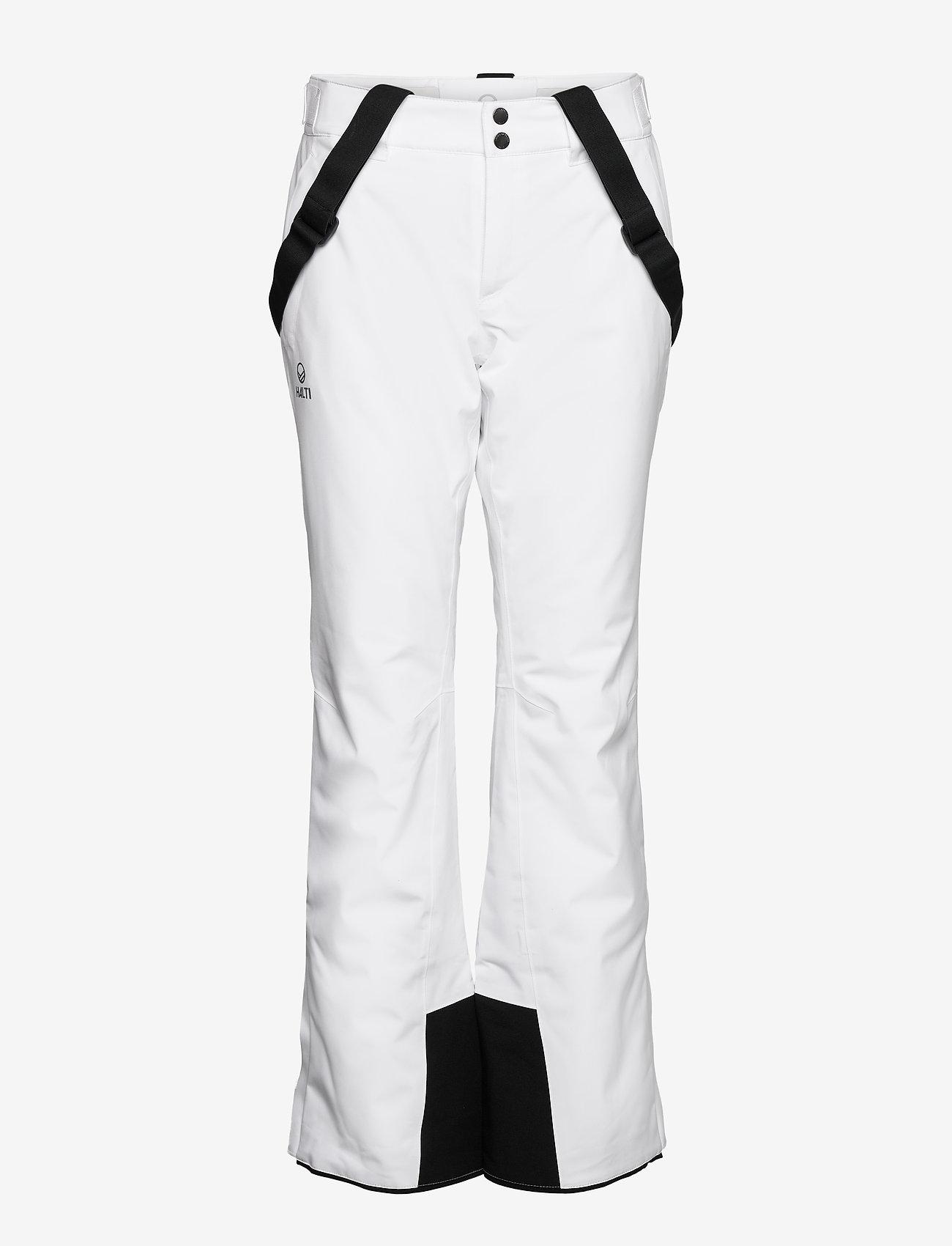 Halti - Puntti Recy W DX ski pants - white - 0