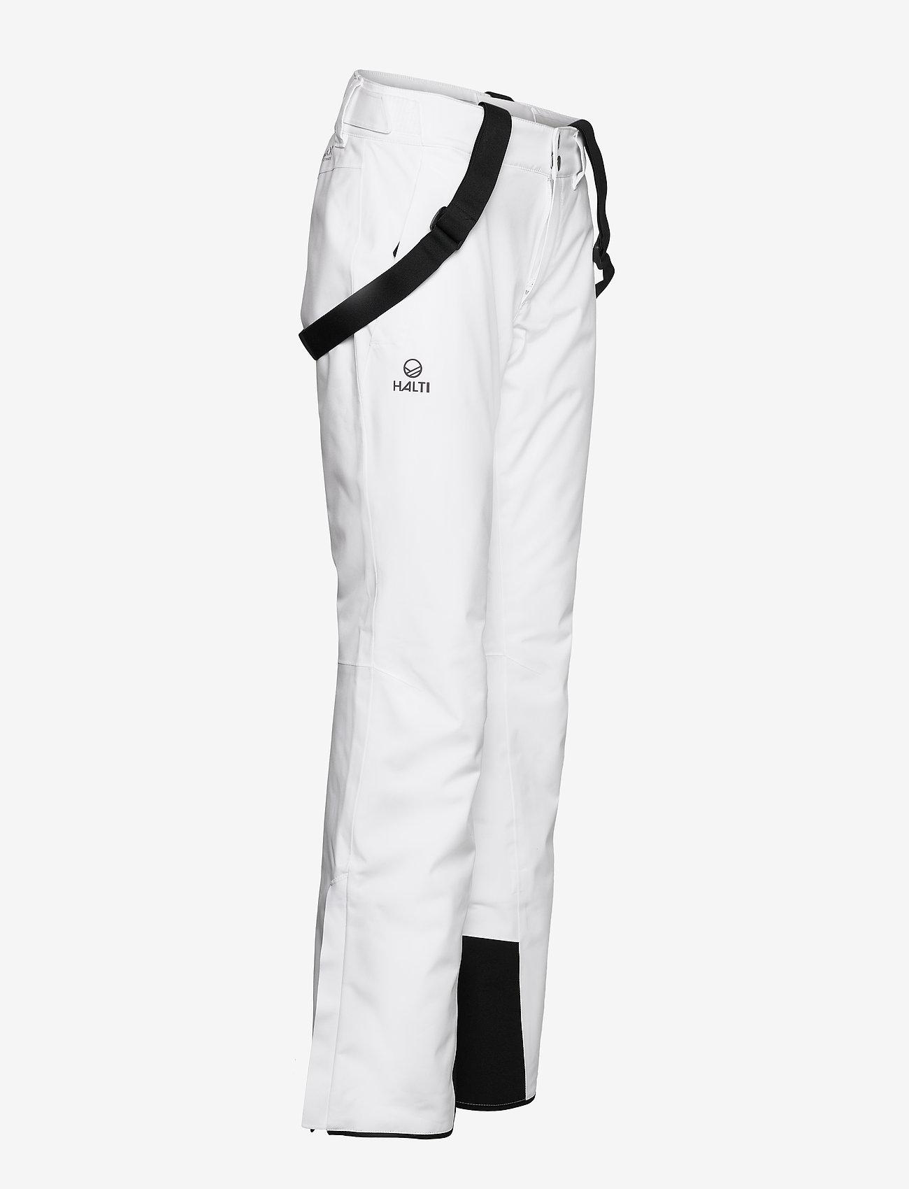 Halti - Puntti Recy W DX ski pants - white - 1