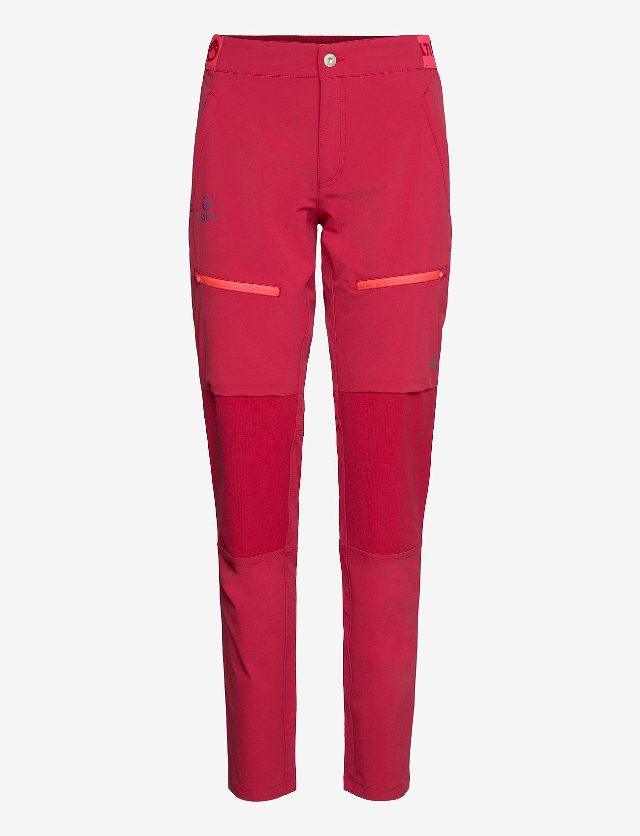Halti - Pallas II Women's X-stretch Pants - friluftsbukser - ski patrol red - 0