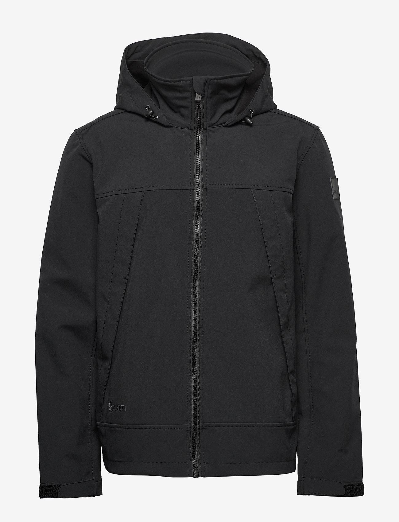 Halti - Veini Men's softshell jacket - softshelljacke - black - 1