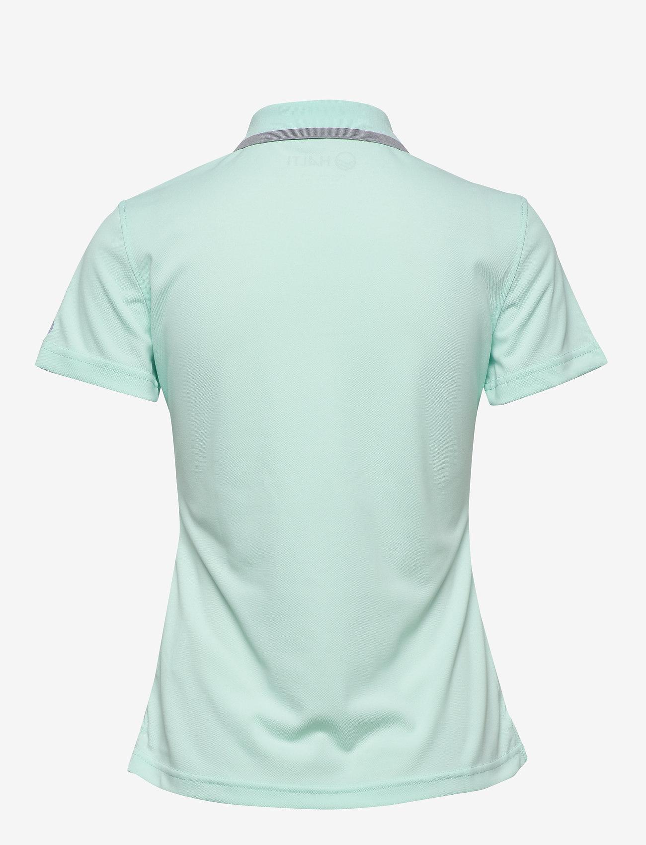 Halti - Seita W technical polo - poloshirts - bleached aqua mint - 1