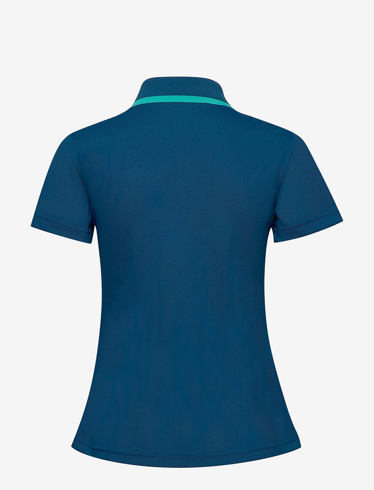 Halti - Seita W technical polo - poloshirts - blue opal - 1