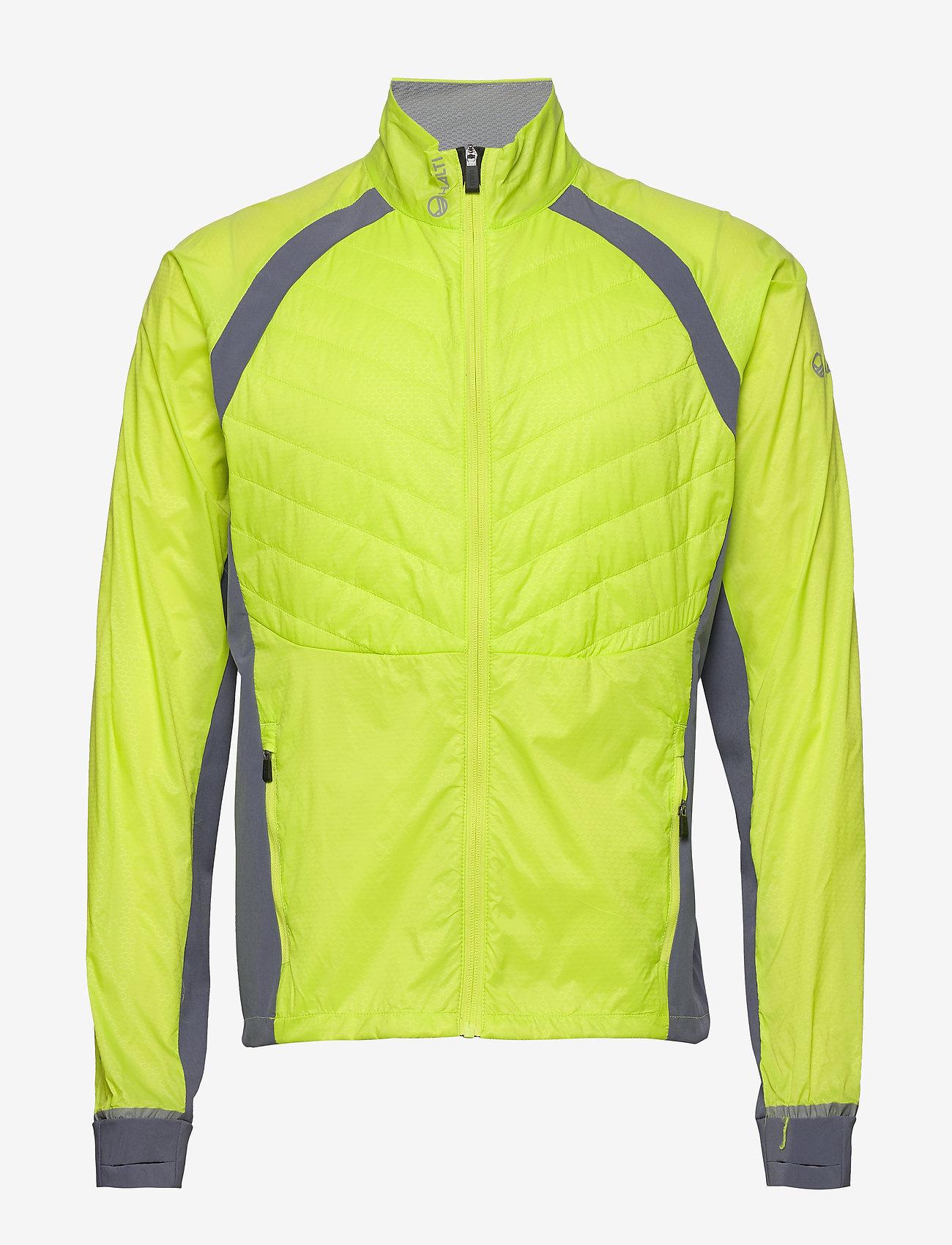 Halti - Keimi Men's Hybrid Jacket - insulated jackets - lime punch - 1