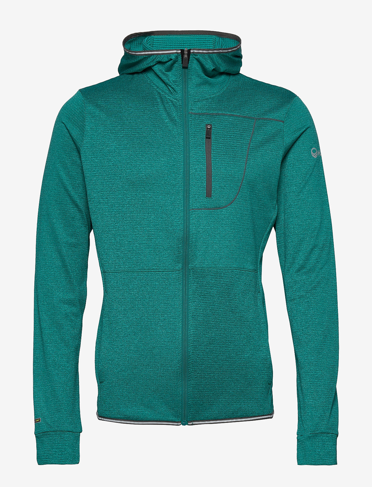 Halti - Puijo M Hoodie jacket - fleece midlayer - fanfare green melange - 0