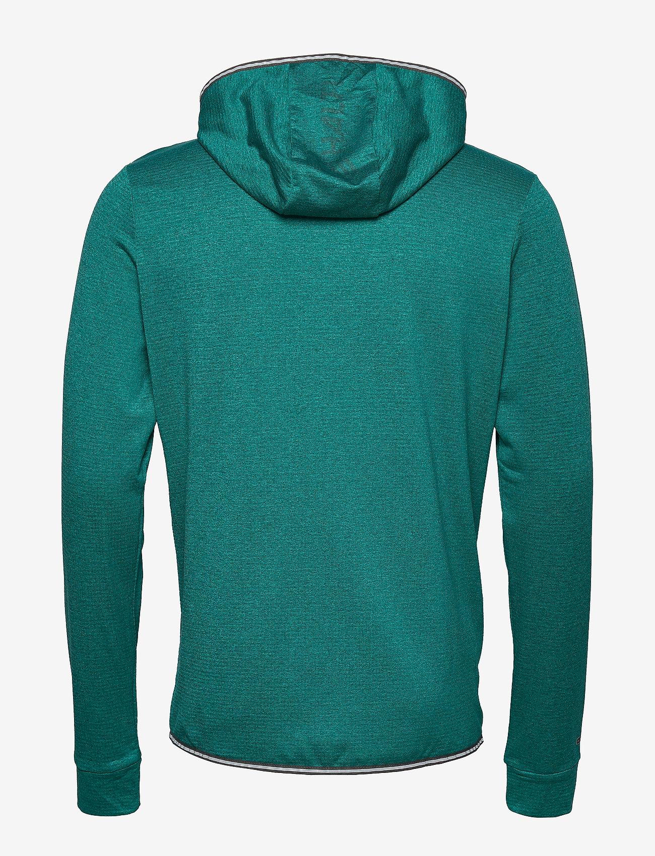 Halti - Puijo M Hoodie jacket - fleece midlayer - fanfare green melange - 1