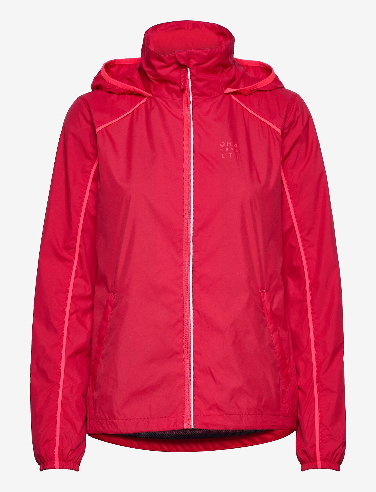 Halti - Reitti W windbraker jacket - koulutustakit - ski patrol red - 0