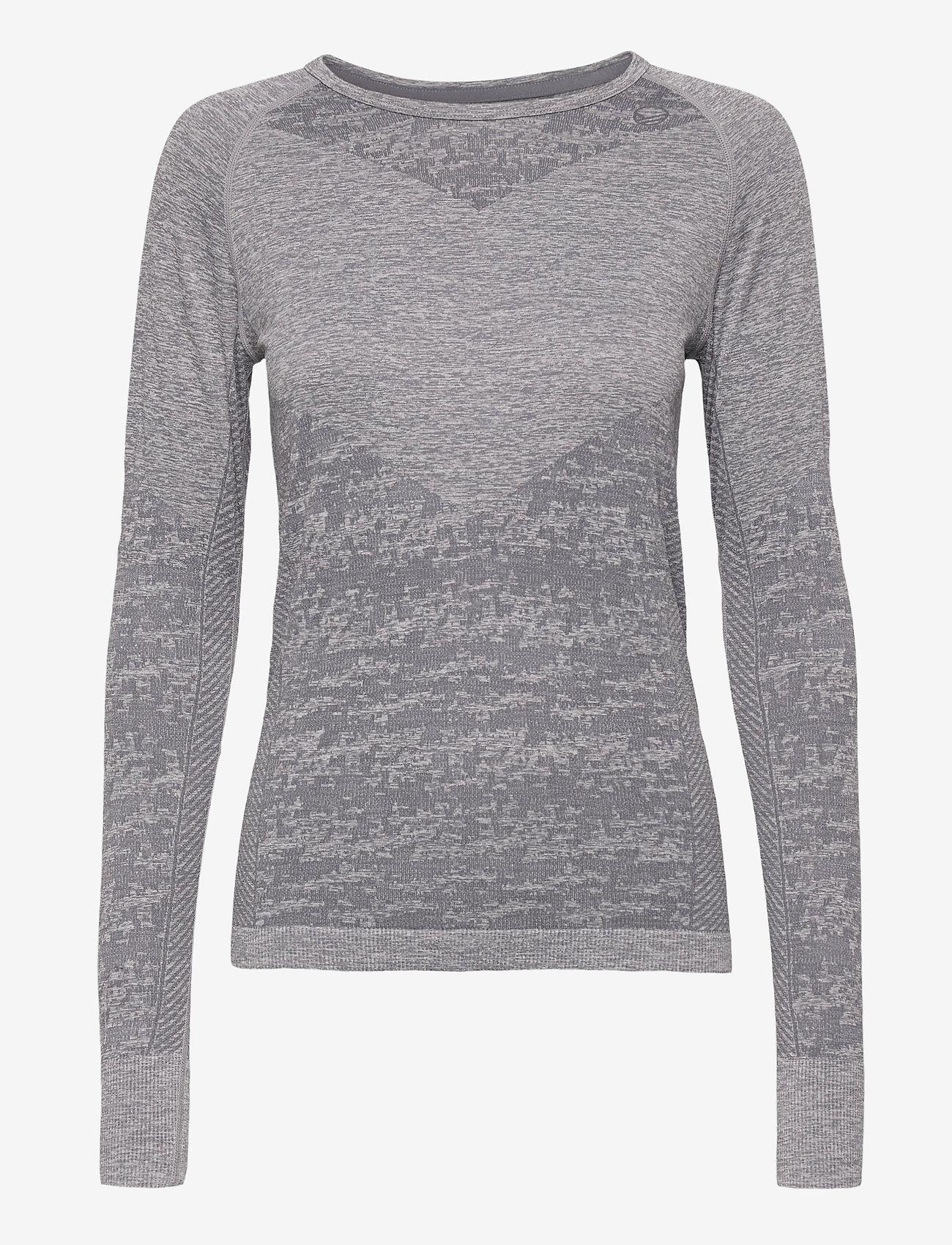 Halti - Free Recy Women's Seamless base layer shirt - thermo ondershirts - folkstone grey melange - 0