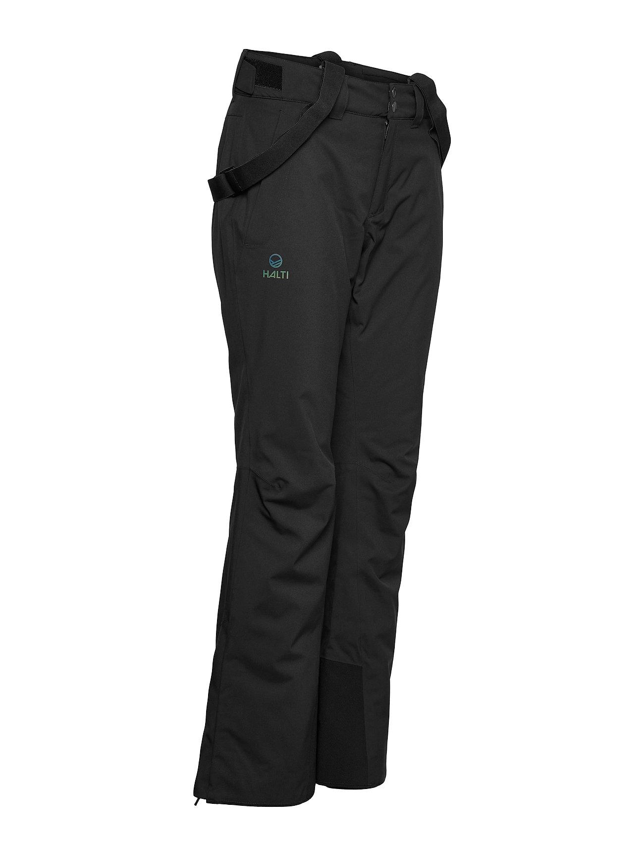 Halti - Puntti Recy W DX ski pants - skibroeken - black - 0